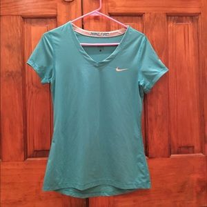 Nike Teal Dri-Fit running short sleeve